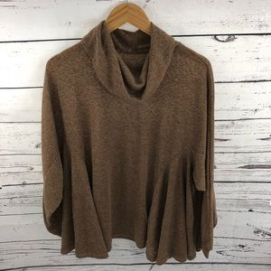 Umgee Cowl Neck Womens Oversized Sweater Large